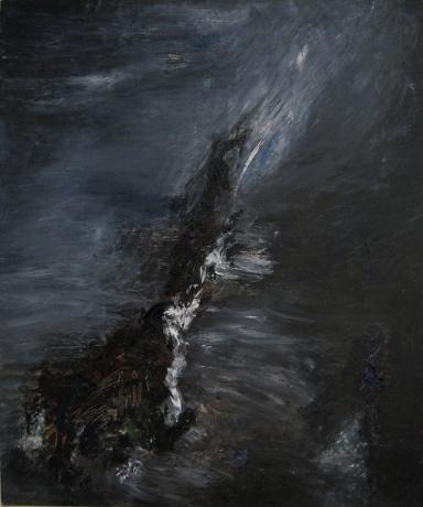 """Allegheny Night"" Oil on Canvas, 30"" x 36"" $1,100"