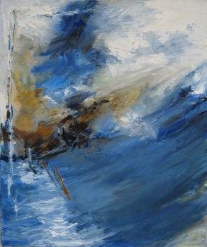 """Amsterdam"" Oil on Canvas, 20"" x 24"" $300"