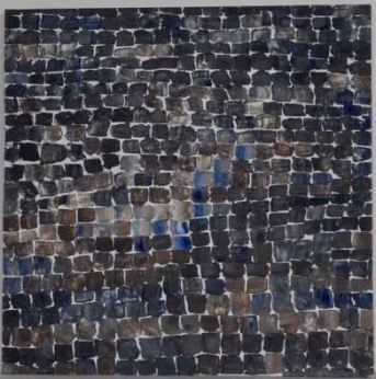 """""""Little Squares 1"""" Oil on Panel, 20"""" x 20"""" $300"""